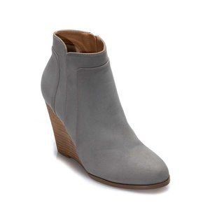 Grey Round Toe Wedge Bootie {CCOCCI}